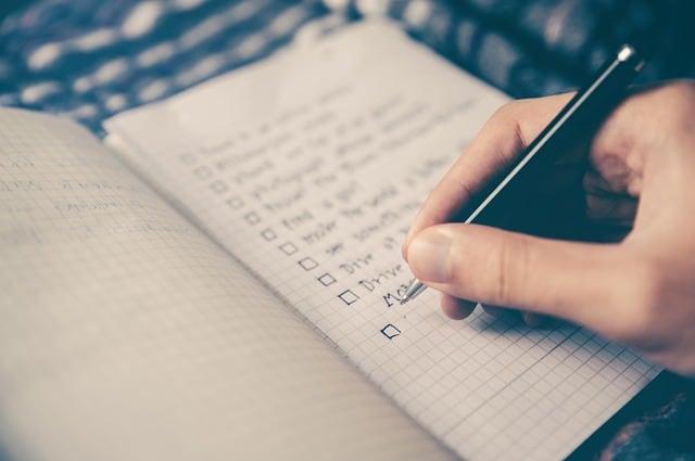 Tuin herinrichten laag budget, lijstje maken